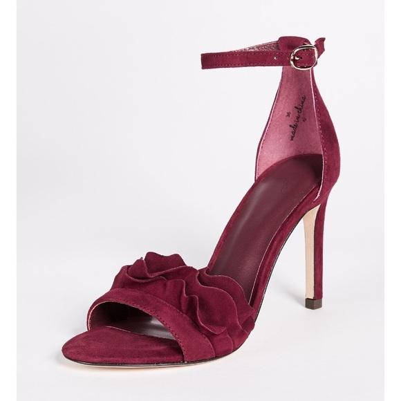 d6abb6502f86f Joie Burgundy Sandals - 3 inch heel - size 9